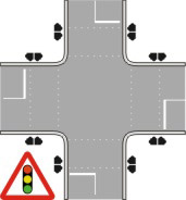 Traffic light crossing
