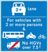 Vehicles permitted to use an HOV lane