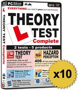 10 x Theory Test Complete